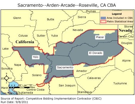 CBIC - Round 2 - Competitive Bidding Area - Sacramento--Arden-Arcade--Rosevil...