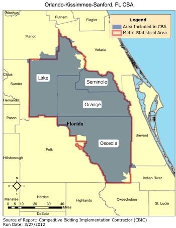 CBIC - Orlando-Kissimmee-Sanford, FL Kissimme Map on